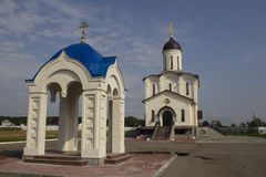 Temple. Saviour Monastery in the village Klykovo in Kaluga region royalty free stock images