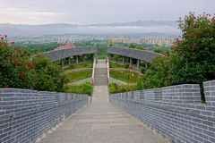 Temple scenery. The landscape of Tiefo Temple in Xixiang, Hanzhong, Shaanxi, China Stock Photos