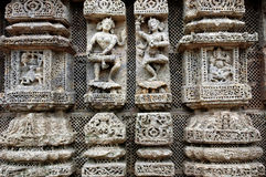 Temple sculpture. Royalty Free Stock Photos