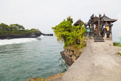 Temple by the Sea, Bali, Indonesia. Image of a temple by the sea at Tanah Lot, Bali, Indonesia Royalty Free Stock Photo