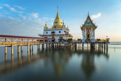 Temple on the sea in the blue sky Royalty Free Stock Photo