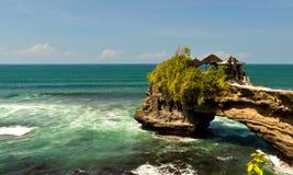Temple on Sea Coast. Indonesian temple on sea coast, Tanah lot complex, Bali Stock Photos