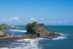 Temple in the sea (Pura Tanah Lot) Royalty Free Stock Images