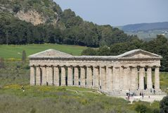 Temple of Segesta. The old Greek temple of Segesta in Sicily Royalty Free Stock Photography