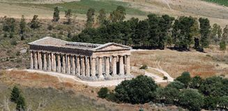 Temple of Segesta Royalty Free Stock Images