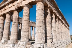 Temple of Segesta in Sicily Royalty Free Stock Photography