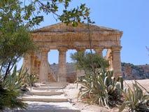 Temple of Segesta, Sicily, Italy Stock Photo