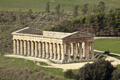 Temple of Segesta ter Royalty Free Stock Photography