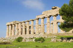 The temple of Selinunt in Sicily royalty free stock image