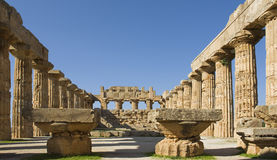 The temple of Selinunt in Sicily Royalty Free Stock Images
