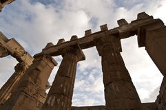 Temple at Selinunte. Columns of the temple at Selinunte in Sicily Stock Photo