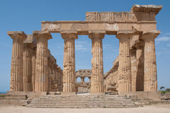 Temple in Selinunte. Hera's temple in Selinunte, Sicily, Italy Royalty Free Stock Photos