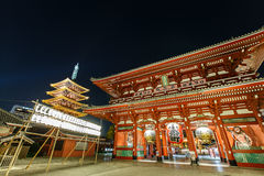 Temple Senso-JI dans Asakusa, Tokyo, Japon Image stock