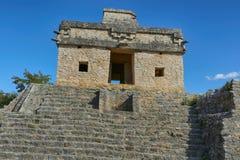 Temple of the Seven Dolls, Dzibilchaltun, Yucatan, Mexico. Yucatan temple of the Seven Dolls, Dzibilchaltun, Yucatan, Mexico stock photography