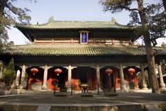 Temple Shandong, Chine de Mencius Photos stock
