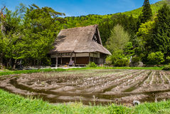 Temple in Shirakawa-go Royalty Free Stock Photography