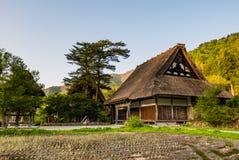 Temple in Shirakawa-go Stock Photo