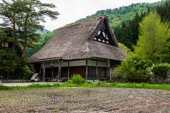 Temple in Shirakawa-go Royalty Free Stock Photo