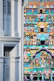 Temple and Shophouse, Singapore Royalty Free Stock Photography