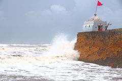 Temple on the shore diu india Stock Image