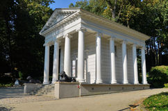 Temple of Sibyl in Lazienki Park in Warsaw, Poland Stock Images