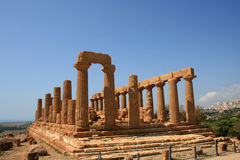 Temple in Sicily. The famous Temple Valley in Agrigento town, Sicily, Italy Royalty Free Stock Photo