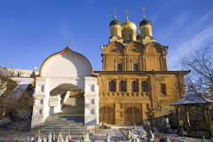 Temple signs   mother   god cathedral convent tier moscow Royalty Free Stock Photography