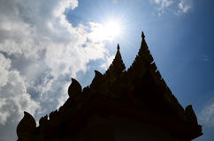 Temple Silhouette Stock Photography