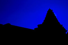 The Temple Silhouette Royalty Free Stock Photo
