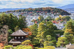 The Temple of the Silver Pavilion of Kyoto, Japan Royalty Free Stock Image