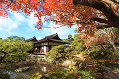 The Temple of the Silver Pavilion of Kyoto, Japan Royalty Free Stock Photo