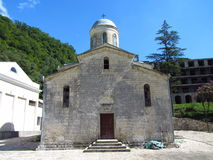 The temple of the Simon Kananit. The building for worship in the Novyi Afon Royalty Free Stock Image