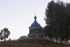 Temple Of Simon Volomsky at sunset in the village Poldarsa, Velikoustyugsky district, Vologda region Royalty Free Stock Photography