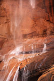 Temple Sinawava Waterfall Red Rock Zion Canyon Stock Photography