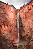 Temple Sinawava Waterfall Red Rock Zion Canyon Royalty Free Stock Photography