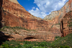 Temple of Sinawava in Zion National Park, Utah royalty free stock images