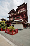 Temple in Singapore. A picture of a Pagoda in Singapore Royalty Free Stock Photo