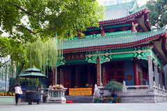 The Temple of Six Banyan. (Ficus) Trees or Liu Rong Temple Stock Photos