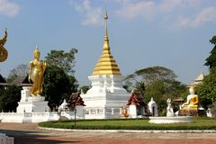 Temple slang. The faith of the people of Thailand on Buddhism Stock Photo