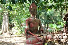 Temple slang. Hermit statue at Wat slang Stock Photos
