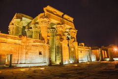 Temple of sobek and horus Stock Photos
