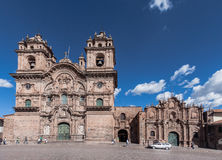 Temple of the Society of Jesus Church Cusco Peru Royalty Free Stock Photos