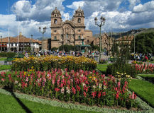 Temple of the Society of Jesus Church Cusco Peru Stock Photos