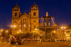 Temple of the Society of Jesus Church Cusco Peru Stock Photos
