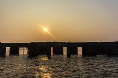 Temple sous-marin Sillouette Photographie stock libre de droits