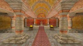 Temple souterrain Photographie stock