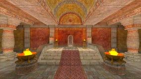 Temple souterrain Images libres de droits