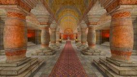 Temple souterrain Photo libre de droits