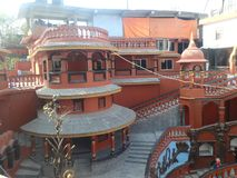 Temple souterrain de bouddhiste Images libres de droits