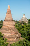 Temple Spires in  Bagan, Myanmar (Burma). Royalty Free Stock Images